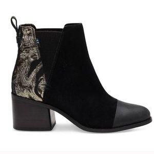Toms Black & Gold Esme Boots 😍